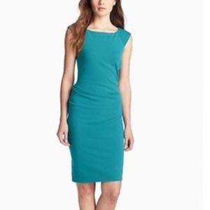 DVF- Sheath Knit Turquoise Dress fitted career 2